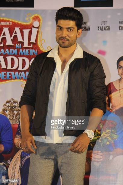 Bollywood actor Gurmeet Choudhary during a trailer launch of movie 'Laali Ki Shaadi Mein Laddoo Deewana' at Cinepolis Andheri on February 27 2017 in...