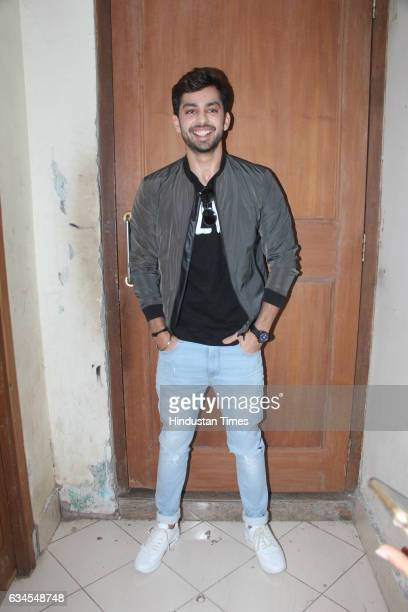 Bollywood actor Himansh Kohli during the trailer launch of film Jeena Isi Ka Naam Hai at National College Bandra on February 8 2017 in Mumbai India