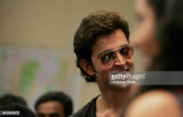 Bollywood actor Hrithik Roshan and Barbara Mori visited at Big fm for the promotion of his film Kite on Saturday