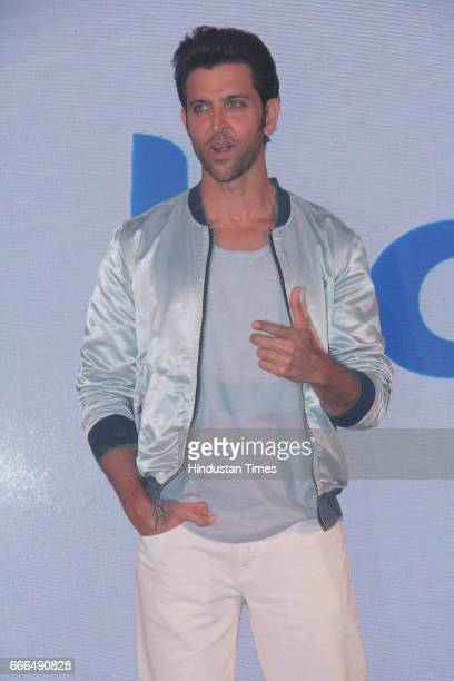 Bollywood actor Hrithik Roshan during the launch of a dating app 'Happn' at JW Marriott Juhu on April 7 2017 in Mumbai India Hrithik Roshan has been...