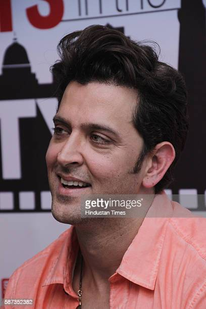 Bollywood actor Hrithik Roshan during the promotion of his upcoming movie Mohenjo Daro at HT City Office HT House on August 5 2016 in New Delhi India