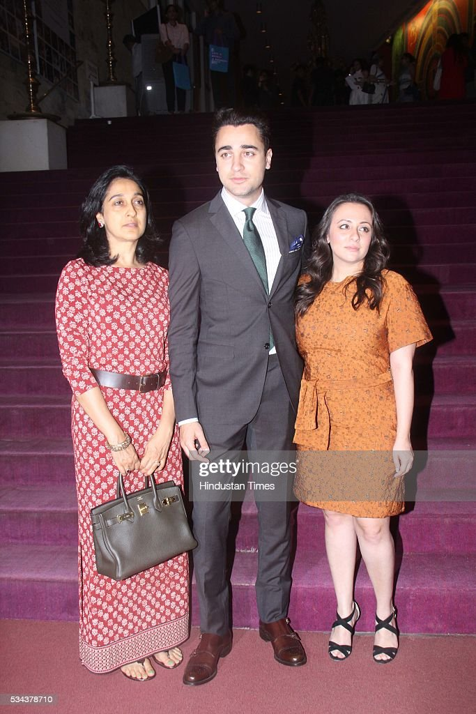 Bollywood actor Imran Khan along with his wife Avantika Malik Khan during the actor Aamir Khan, veteran British actor Ian McKellen discussed the work and legacy of literary legend William Shakespeare at the launch of the Mumbai Academy of Moving Images (MAMI) Film Club at Tata Theater, NCPA, Nariman Point, on May 23, 2016 in Mumbai, India.