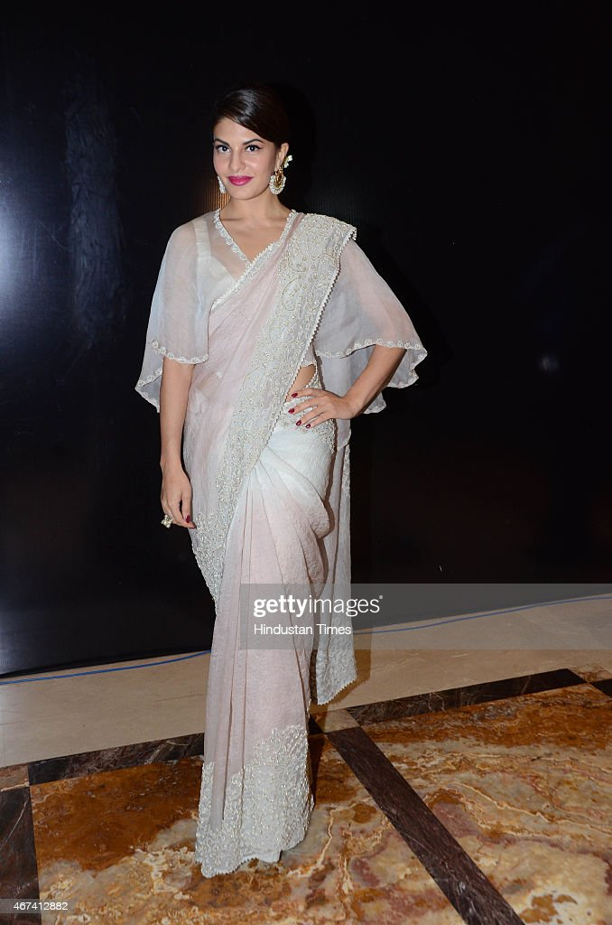 Bollywood actor <a gi-track='captionPersonalityLinkClicked' href=/galleries/search?phrase=Jacqueline+Fernandez&family=editorial&specificpeople=5749256 ng-click='$event.stopPropagation()'>Jacqueline Fernandez</a> at Lakme Fashion Week Summer/Resort 2015 on March 22, 2015 in Mumbai, India.