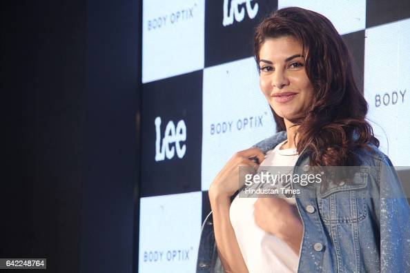Bollywood actor Jacqueline Fernandez during the launch of Lee Jeans new denim collection Body Optix at JW Marriott Sahar Andheri on February 15 2017...