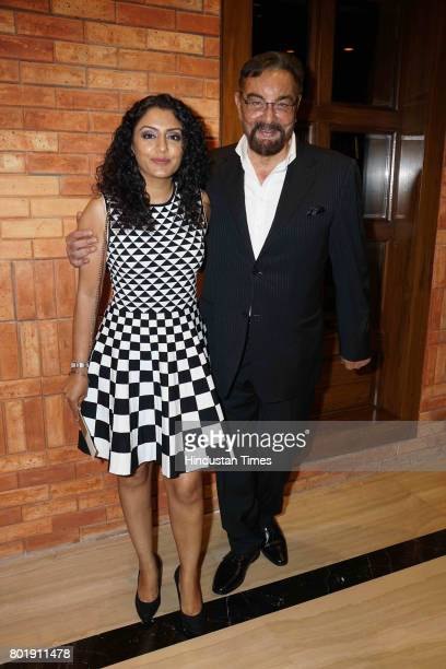 Bollywood actor Kabir Bedi and his wife Parveen Dusanj during the birthday party of actor Aftab Shivdasani at the Taj Lands End Hotel in Bandra on...