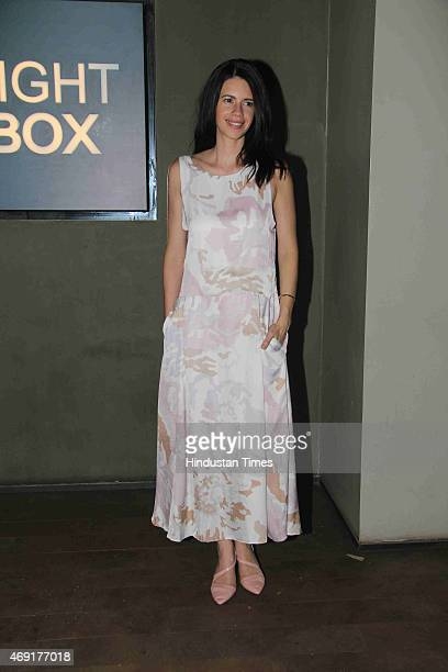 Bollywood actor Kalki Koechlin at the special screening of Margarita With A Straw hosted by Aamir Khan and Kiran Rao at Light Box Santracruze on...