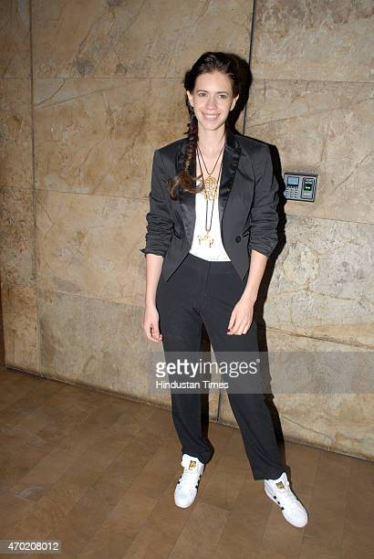 Bollywood actor Kalki Koechlin during the special screening of film 'Margarita With A Straw' at Lightbox Santracruze on April 16 2015 in Mumbai India