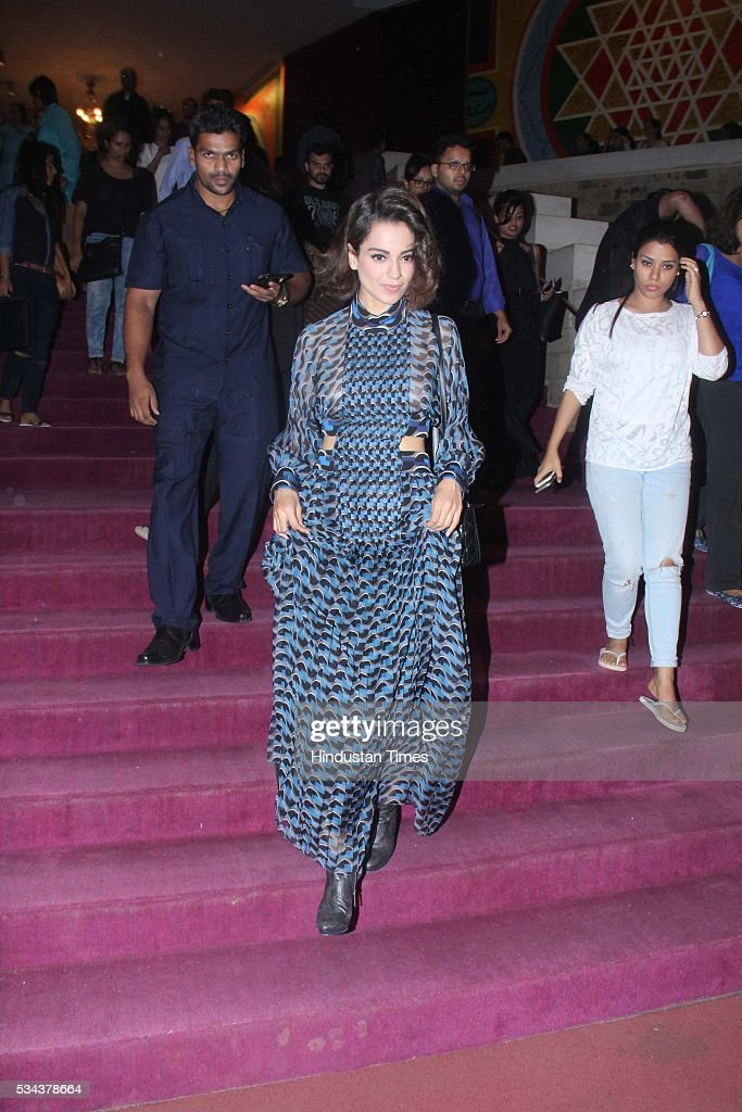 Bollywood actor Kangana Ranaut during the actor Aamir Khan, veteran British actor Ian McKellen discussed the work and legacy of literary legend William Shakespeare at the launch of the Mumbai Academy of Moving Images (MAMI) Film Club at Tata Theater, NCPA, Nariman Point, on May 23, 2016 in Mumbai, India.