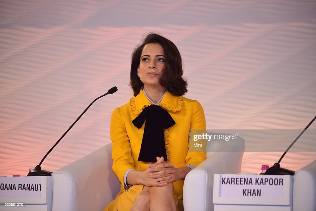 Bollywood actor Kangana Ranaut speaking at Hindustan Times Leadership Summit 2015 on December 5, 2015 in New Delhi, India.