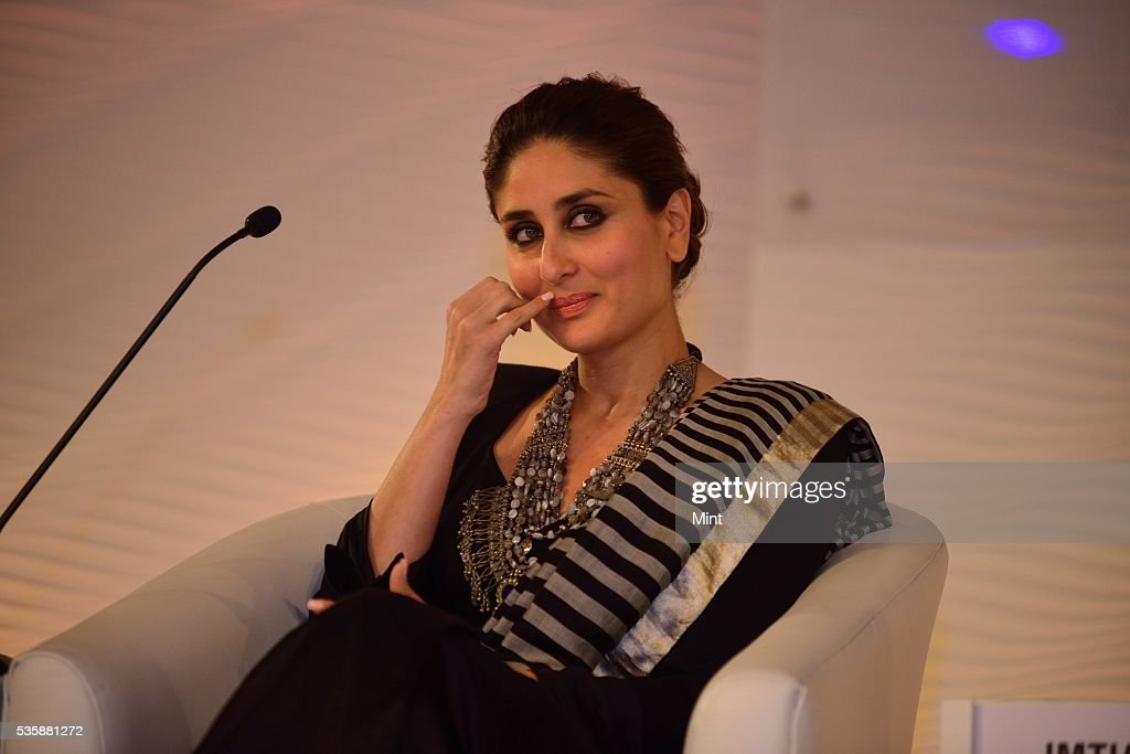 Bollywood actor Kareeena Kapoor Khan speaking at Hindustan Times Leadership Summit 2015 on December 5, 2015 in New Delhi, India.