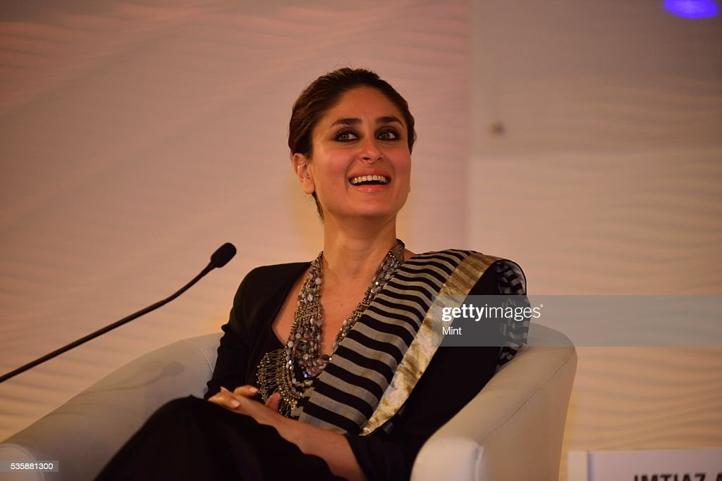 Bollywood actor Kareeena Kapoor Khan speaking at Hindustan Times Leadership Summit 2015 on December 5, 2015 in New Delhi, India.