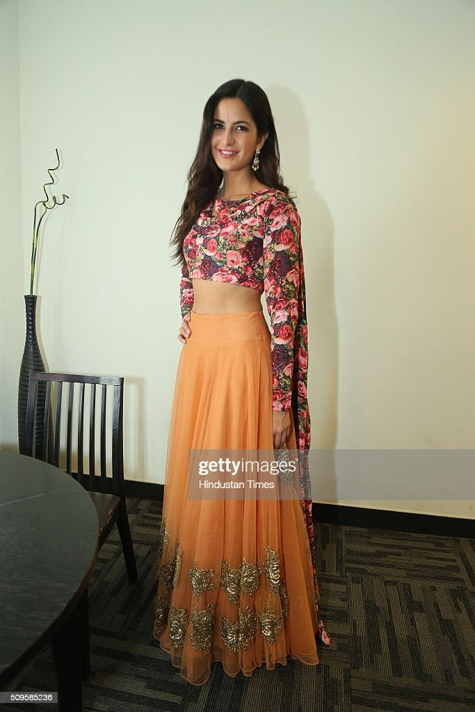 Bollywood actor Katrina Kaif during an interview for the promotion of her upcoming adult comedy film Fitoor at HT Media Office on February 3, 2016 in New Delhi, India. The film is scheduled to release on February 12, 2016.