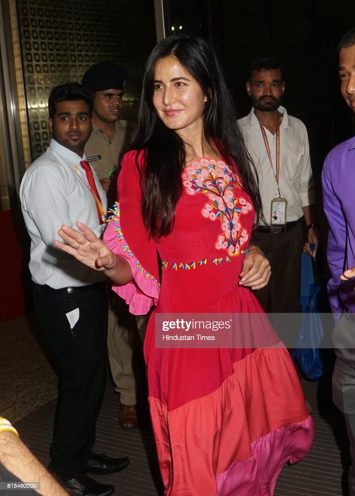 Bollywood actor Katrina Kaif spotted at airport while leaving for IIFA, on July 12, 2017 in Mumbai, India.