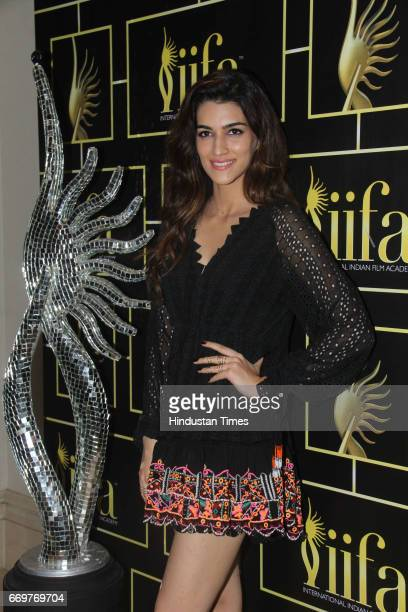 Bollywood actor Kriti Sanon during the International Indian Film Academy Awards Voting Weekend on April 16 2017 in Mumbai India