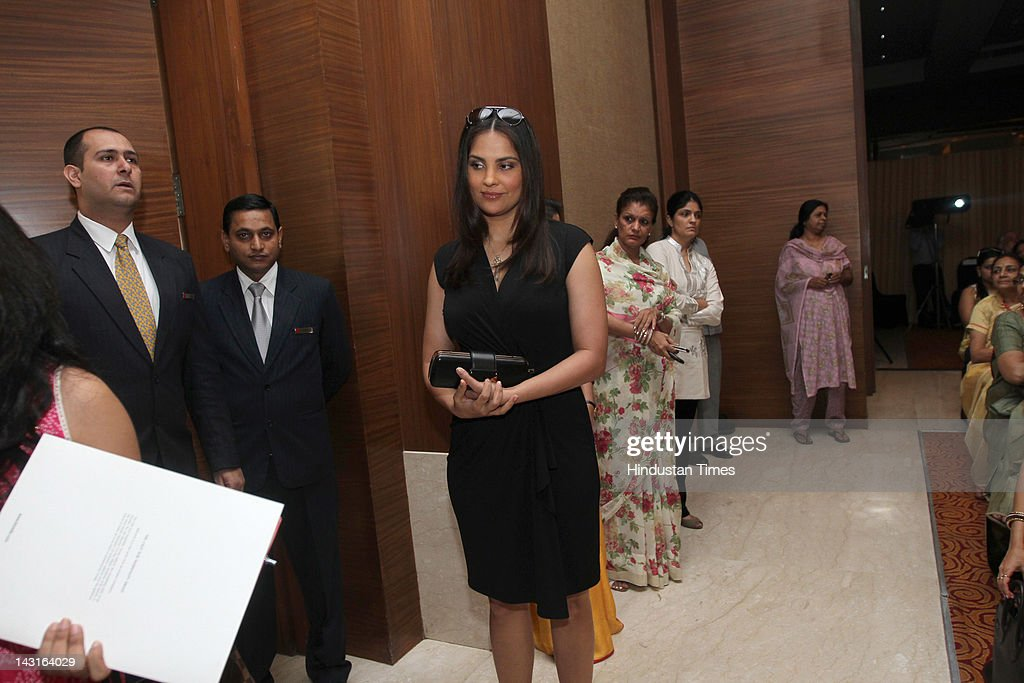 Bollywood Actor Lara Dutta attends the celebration of womanhood at the Young Women Achievers Award 20112012 held at The Lalit Hotel on April 11 2012...