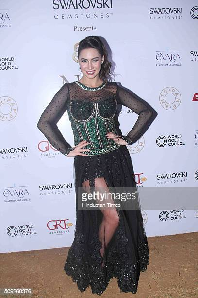 Bollywood actor Lauren Gottlieb during the Swarovski Gemstones National Jewellery Awards 201516 on February 6 2016 in Mumbai India