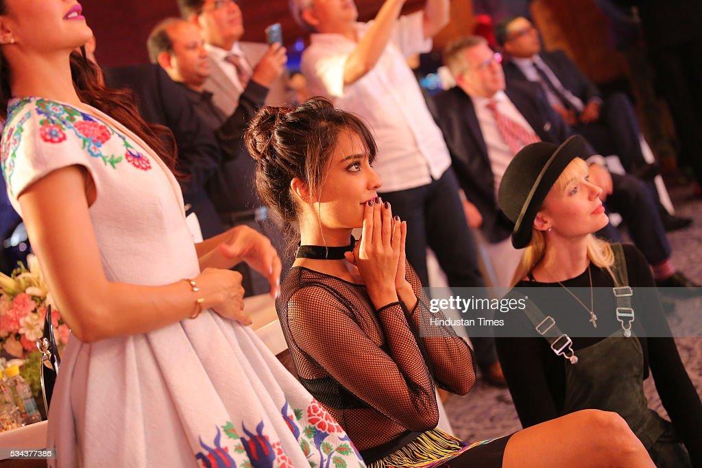 Bollywood actor Lisa Haydon during a sixth edition of Hindustan Times Most Stylish Awards 2016 at Hotel JW Marriot, Aerocity on May 24, 2016 in New Delhi, India.