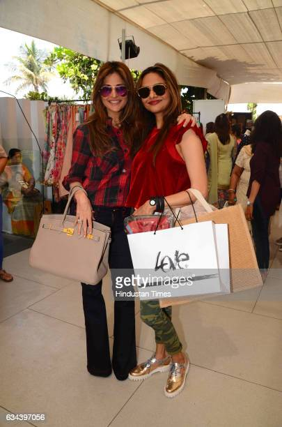 Bollywood actor Madhu Shah during a Charity exhibition Araaish organised by Mana Shetty wife of actor Suniel Shetty at Blue Sea Worli on February 7...