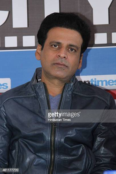 Bollywood actor Manoj Bajpai during an exclusive interview for his upcoming movie Tevar at HT Media Office on January 05 New Delhi India