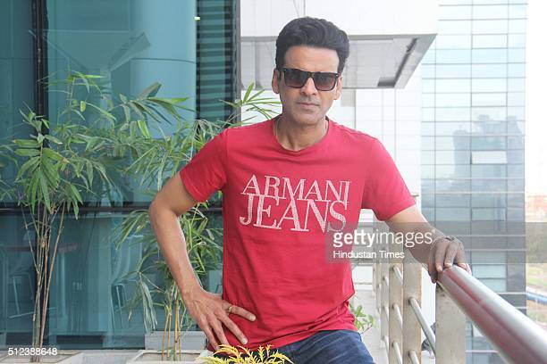 Bollywood actor Manoj Bajpayee during an exclusive interview with HT CafeHindustan Times for the promotion of an upcoming movie 'Aligarh' at HT Media...