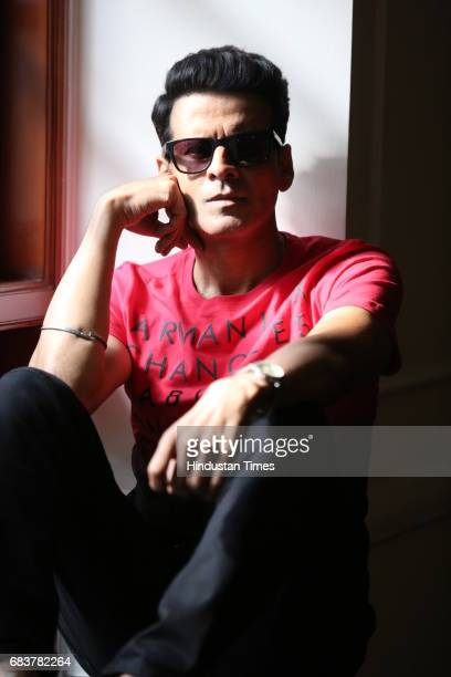 Bollywood actor Manoj Bajpayee during an interview for the promotion of his upcoming movie 'Naam Shabana' at the Imperial Hotel on March 19 2017 in...