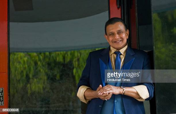 Bollywood actor Mithun Chakraborty on the shoot of Dance India Dance