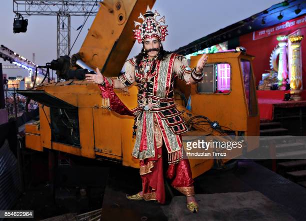 Bollywood actor Mukesh Rishi poses during an exclusive interview with HT CityHindustan Times as he plays a role of Demon King Ravana at Luv Kush...