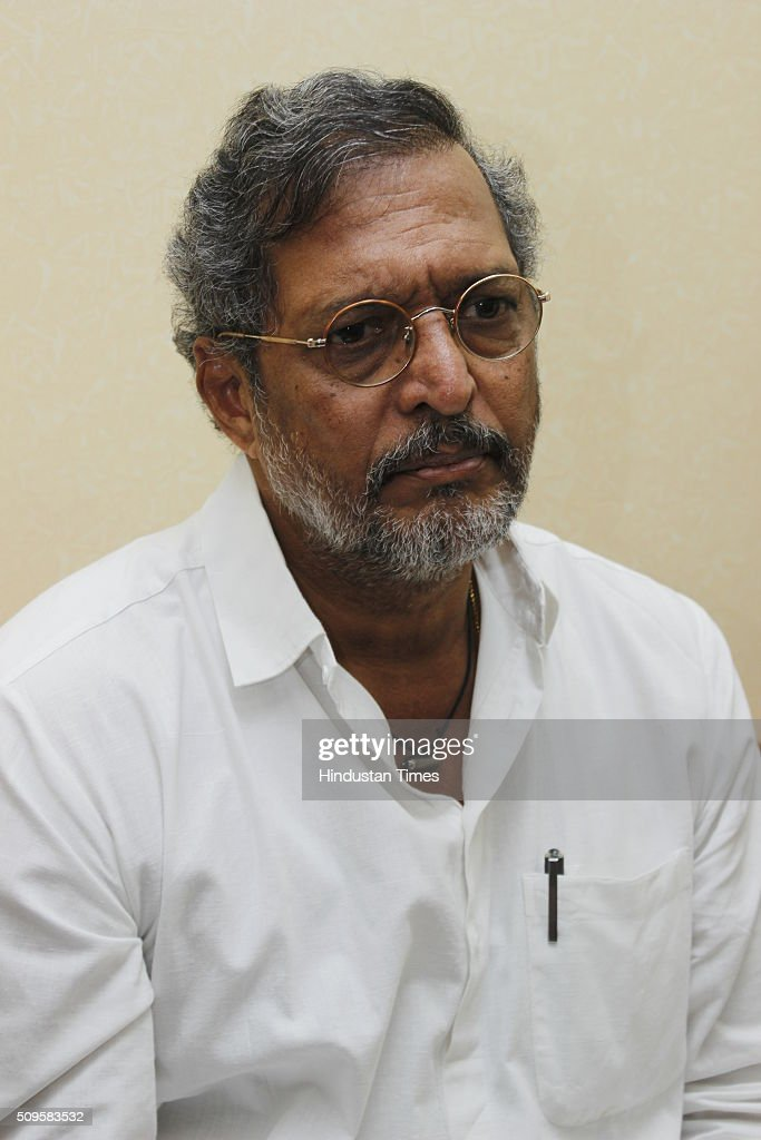 Bollywood actor Nana Patekar speaking during a press conference at National School of Drama on February 2, 2016 in New Delhi, India.