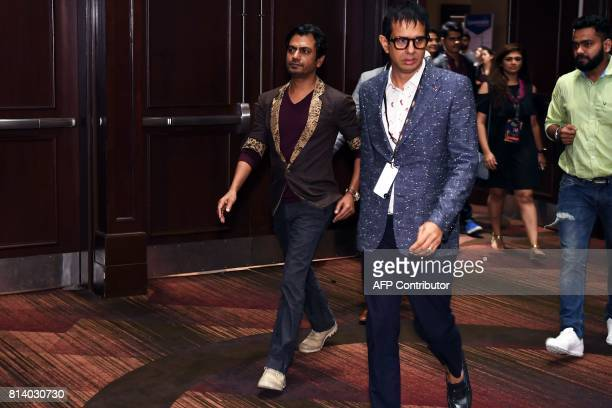 Bollywood actor Nawazuddin Siddiqui arrives for a press conference ahead of the 18th International Indian Film Academy Festival in New York City July...