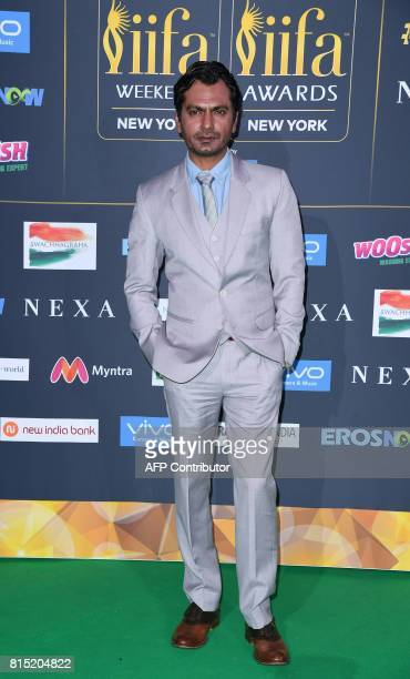 Bollywood actor Nawazuddin Siddiqui arrives for the IIFA Awards July 15 2017 at the MetLife Stadium in East Rutherford New Jersey during the 18th...