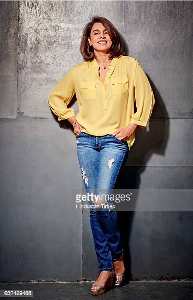 Bollywood actor Neetu Singh poses during an exclusive interview with BrunchHindustan Times on January 16 2017 in Mumbai India During an interview...