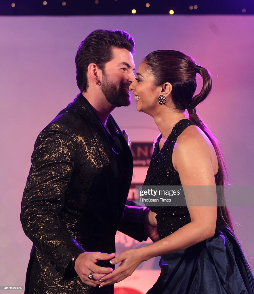 Bollywood actor <a gi-track='captionPersonalityLinkClicked' href=/galleries/search?phrase=Neil+Nitin+Mukesh&family=editorial&specificpeople=5642805 ng-click='$event.stopPropagation()'>Neil Nitin Mukesh</a> and Tanishaa Mukerji during the Hindustan Times Mumbai's Most Stylish Awards 2015 at JW Mariott Hotel, Juhu on March 26, 2015 in Mumbai, India.