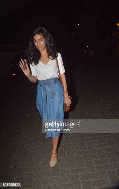 Bollywood actor Nimrat Kaur spotted at cafe in Bandra on August 6 2017 in Mumbai India