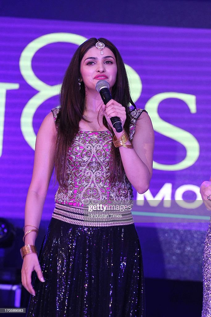 Bollywood actor Prachi Desai performs during the 3rd Anniversary celebration of Josh Mobile and launch of new mobile at Crowne Plaza, Rohini on June 13, 2013 in New Delhi, India.