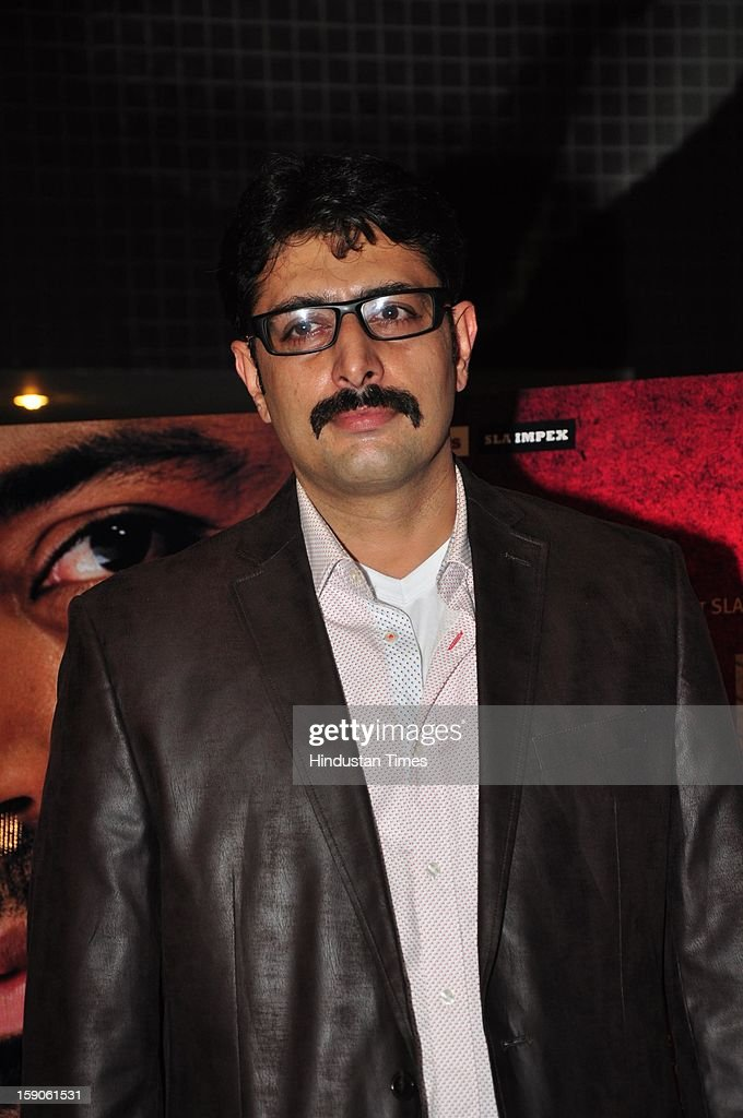 Bollywood actor Priyanshu Chatterjee during premiere of his upcoming movie Rajdhani Express: Point Blank Justice at PVR, Juhu on December 3, 2013 in Mumbai, India.