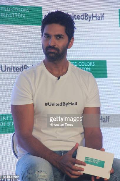 Bollywood actor Purab Kohli during the launch of #UnitedByHalf campaign by United Colors of Benetton at St Regis Lower Parel on February 10 2017 in...