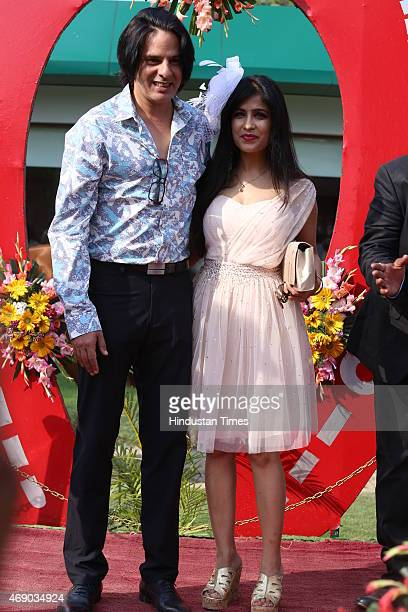 Bollywood actor Rahul Roy with playback singer Shibani Kashyap during the Rolli Stud Farm Million Cup and showcasing of Designer Preety Singhal...