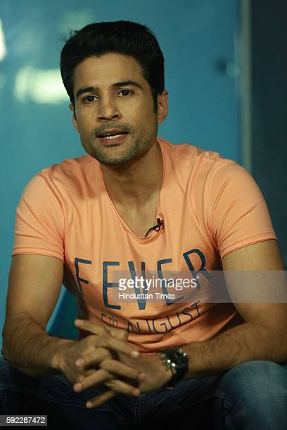 Bollywood Actor Rajeev Khandelwal during an exclusive interview with HT CITYHindustan Times for the promotion of his upcoming movie 'Fever' at HT...