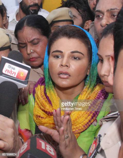 Bollywood actor Rakhi Sawant produced at district court on August 17 2017 in Ludhiana India Ludhiana Court issued a fresh arrest warrant against her...