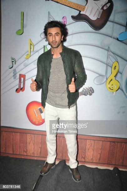 Bollywood actor Ranbir Kapoor arrives to promote movie 'Jagga Jasoos' on the sets of Sa Re Ga Ma Pa Li'l Champs Season 6 in Malad on June 27 2017 in...