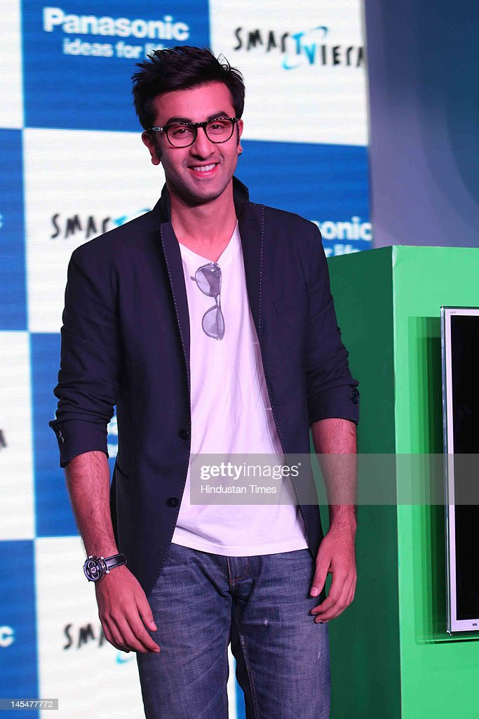 Bollywood actor <a gi-track='captionPersonalityLinkClicked' href=/galleries/search?phrase=Ranbir+Kapoor&family=editorial&specificpeople=4534979 ng-click='$event.stopPropagation()'>Ranbir Kapoor</a> at Panasonic Smart Tech Meet at Taj Palace hotel on May 14, 2012 in New Delhi, India.