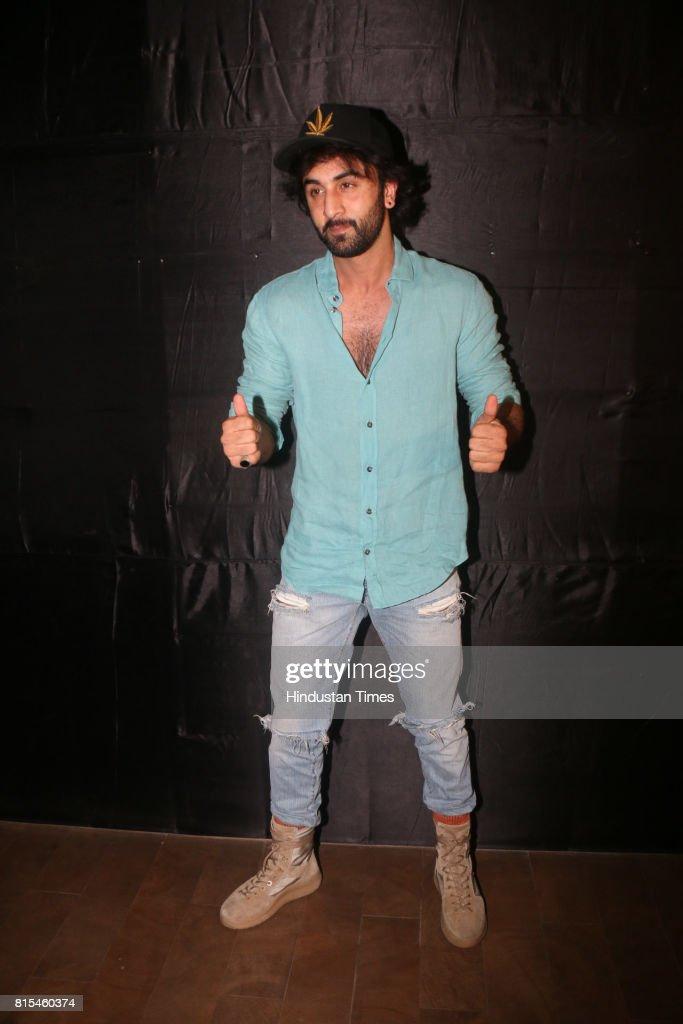 Bollywood actor Ranbir Kapoor during a special screening of movie Jagga Jasoos at Lightbox, Santracruze, on July 13, 2017 in Mumbai, India.