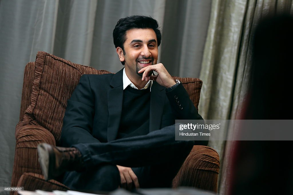 Bollywood actor <a gi-track='captionPersonalityLinkClicked' href=/galleries/search?phrase=Ranbir+Kapoor&family=editorial&specificpeople=4534979 ng-click='$event.stopPropagation()'>Ranbir Kapoor</a> during an interview on February 6, 2015 in New Delhi, India. Bollywood actor <a gi-track='captionPersonalityLinkClicked' href=/galleries/search?phrase=Ranbir+Kapoor&family=editorial&specificpeople=4534979 ng-click='$event.stopPropagation()'>Ranbir Kapoor</a> and filmmaker Imtiaz Ali released lyricist friend Irshad Kamils book of poems Ek Maheena Nazmon Ka.