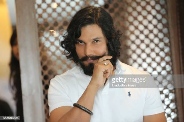 Bollywood actor Randeep Hooda poses during an interview with Hindustan Times after launching Gym 99 on May 18 2017 in New Delhi India Randeep Hooda...