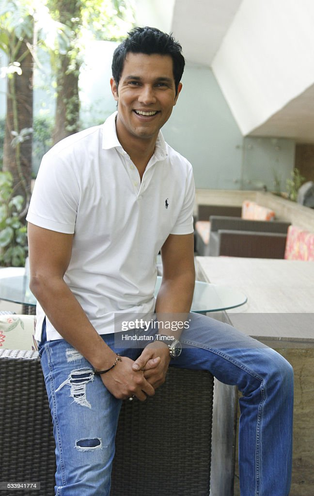 Bollywood actor Randeep Hooda poses for profile shoot during an interview for promotion of his upcoming Sarbjit at Hotel Le Meridien on May 20, 2016 in New Delhi, India.