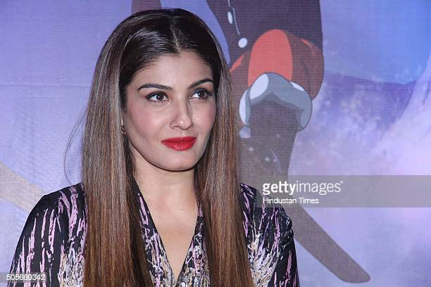 Bollywood actor Raveena Tandon attends press screening of animation film Chhota Bheem Himalayan Adventure at Fun Republic Andheri on January 6 2016...