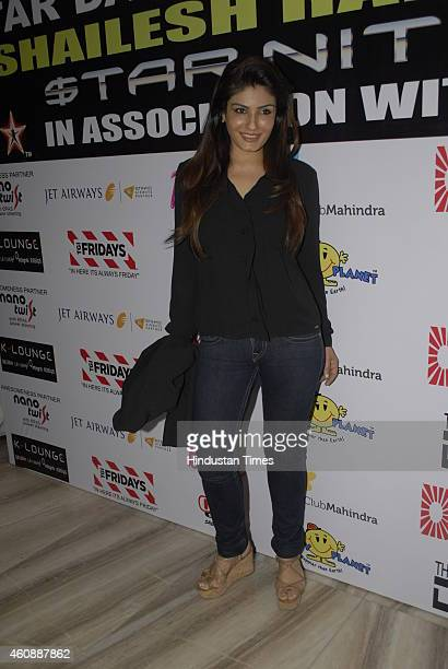 Bollywood actor Raveena Tandon during Star Night 2014 organized by Police constabulary contingency and a host of NGOs for underprivileged children on...