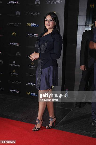 Bollywood actor Richa Chadda at the red carpet of premier of 'xXx Return of Xander Cage' movie on January 12 2017 in Mumbai India 'xXx Return of...