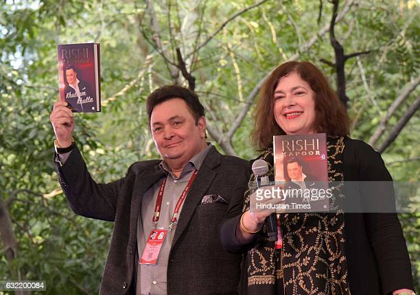 Bollywood actor Rishi Kapoor during the session 'Main Shayar Toh Nahin' on January 20 2017 in Jaipur India