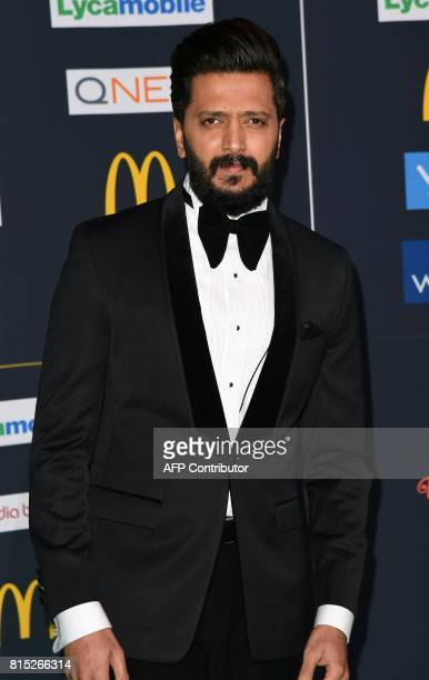 Bollywood Actor Ritesh Deshmukh arrives for the IIFA Awards July 15 2017 at the MetLife Stadium in East Rutherford New Jersey during the 18th...
